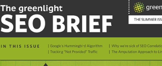 The Greenlight SEO Brief: Summer 2013