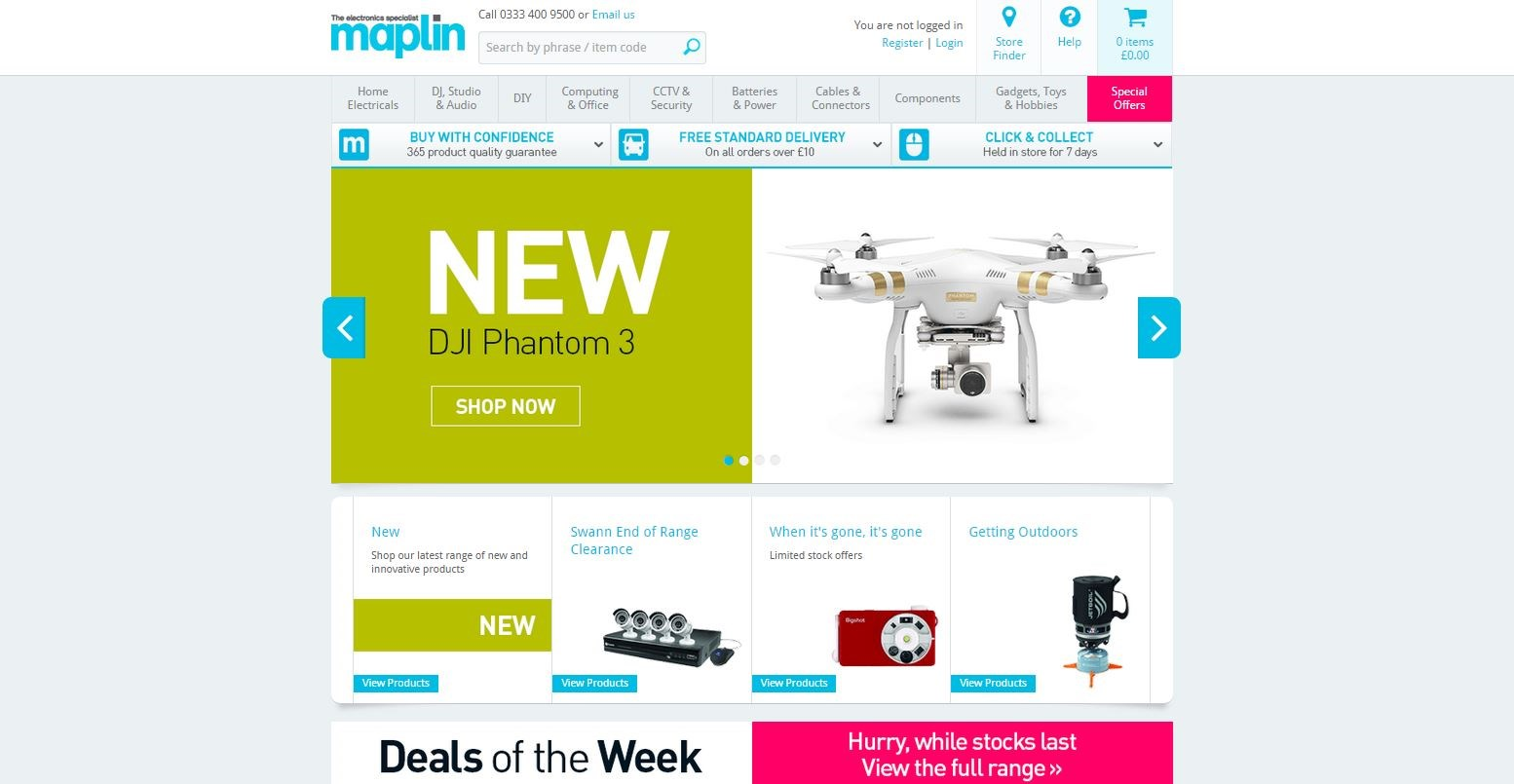 Applying a service-led approach to the Maplin eCommerce offering