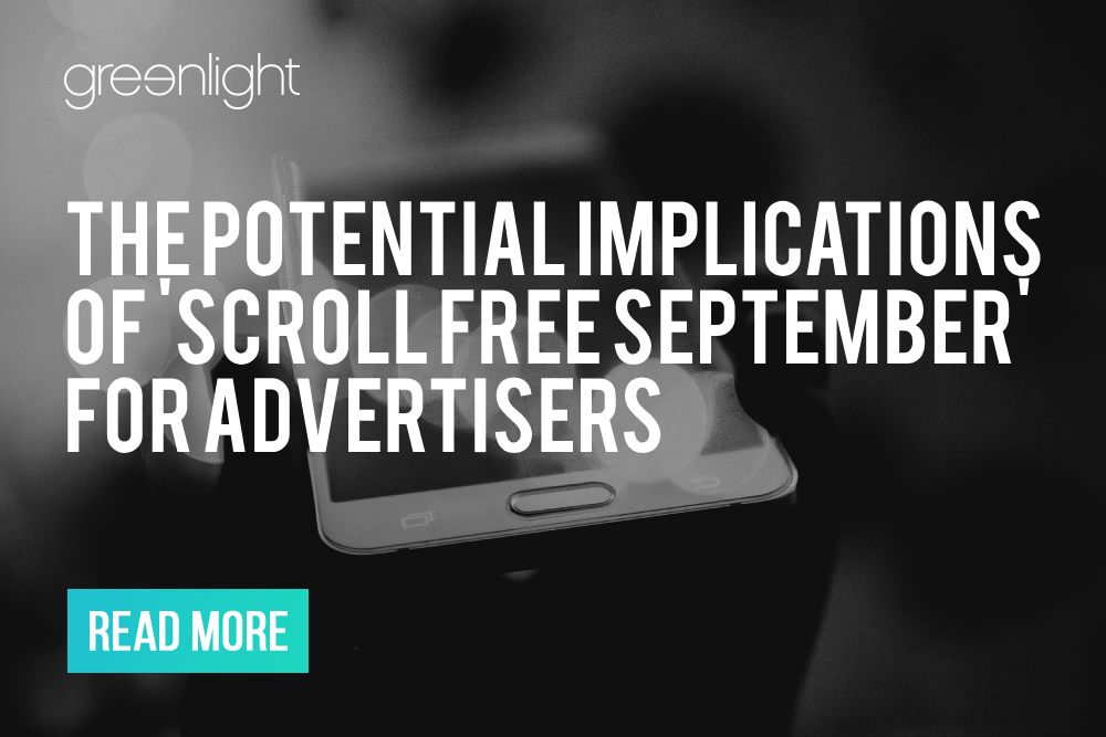 How to adjust your paid social strategy for 'Scroll Free September'