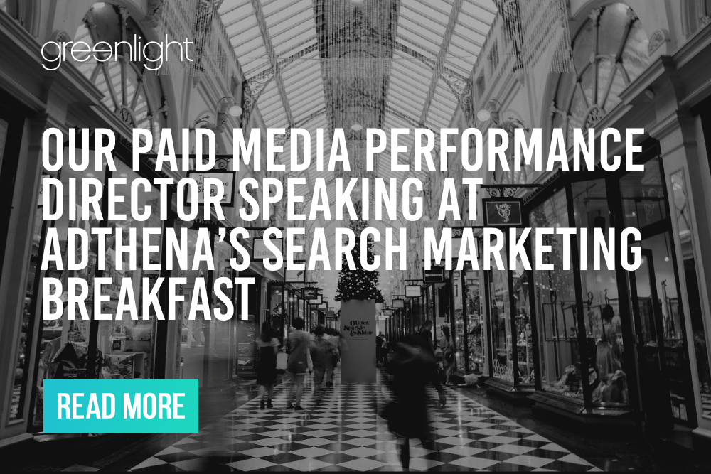 Our Paid Media Performance Director speaking at Adthena's Search Marketing Breakfast