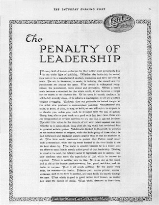 Penalty Of Eladership