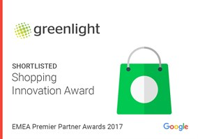 Greenlight Digital shortlisted for Shopping Innovation award from Google