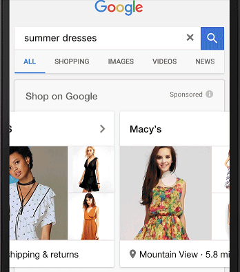 Google's new ad format Showcase Shopping ads_1